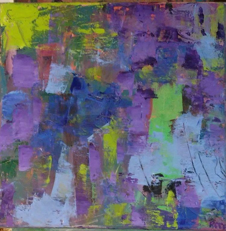 Blue Purple 14x14 Oil Canvas - robinccpoole   ello