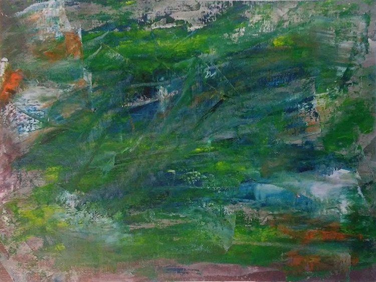 Rain Green 9x12 Oil Canvas Pape - robinccpoole | ello