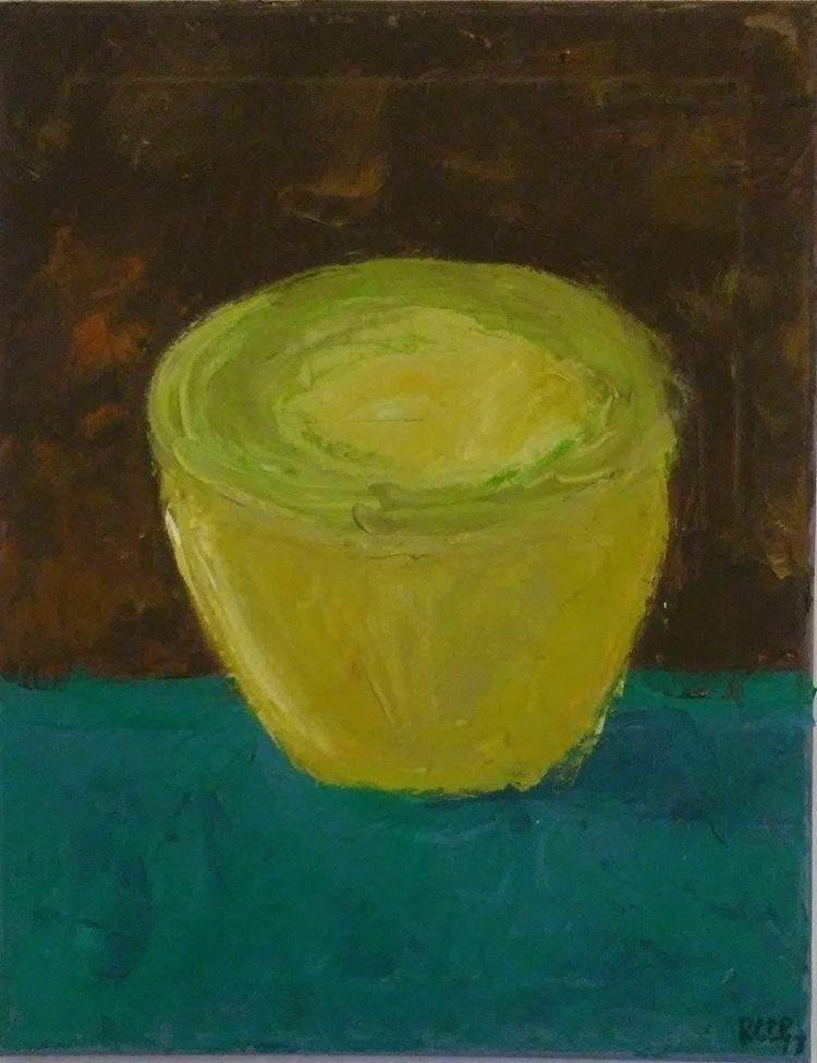 Yellow Bowl 14x11 Oil Canvas - robinccpoole | ello