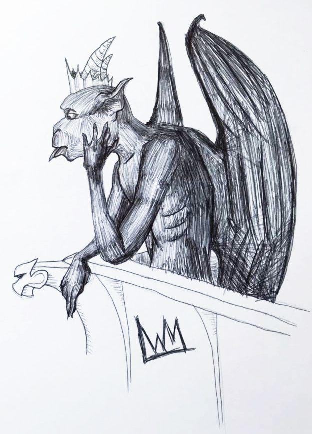 gargoyle doodle yesterday :) ba - lewm | ello
