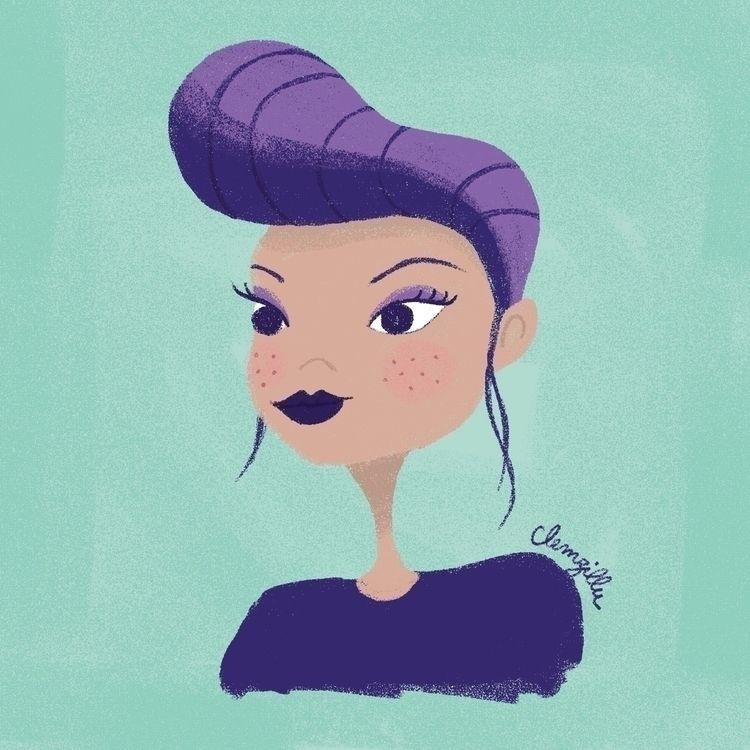portrait, rock, girl, purplehair - clemzillu | ello