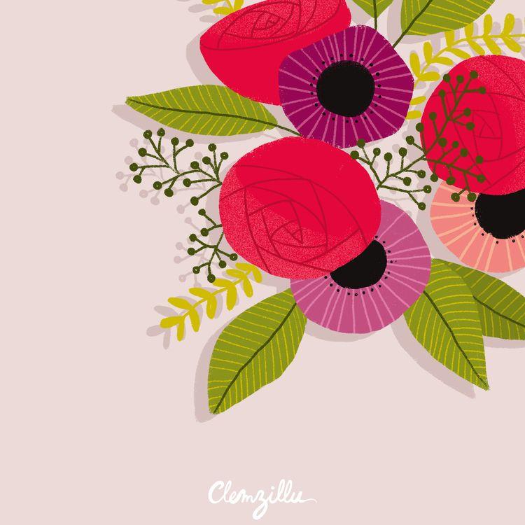urbanjungle, plantdrawing, flowersdrawing - clemzillu | ello