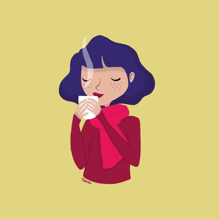 illustration, drawing, teaaddict - clemzillu | ello