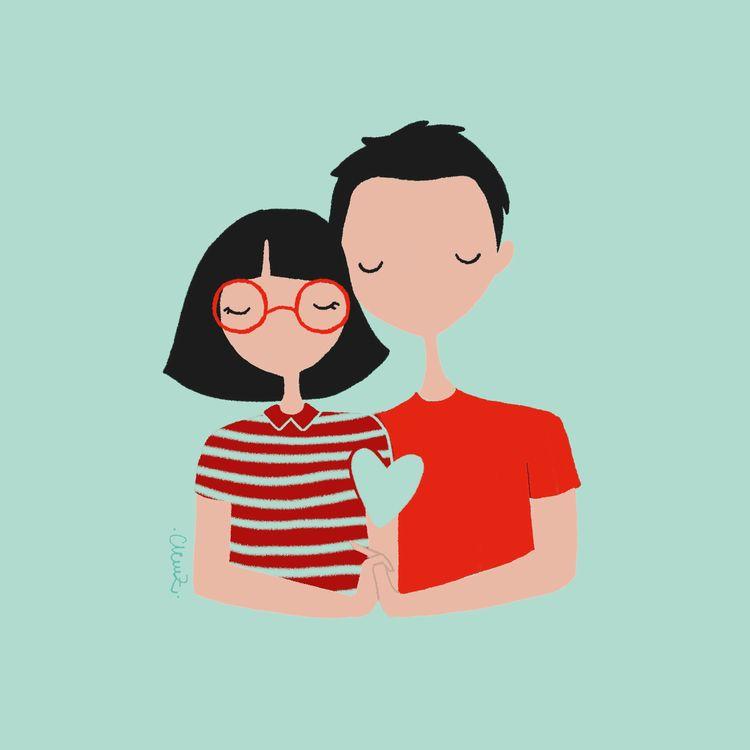 couple, colors, familyportrait - clemzillu | ello