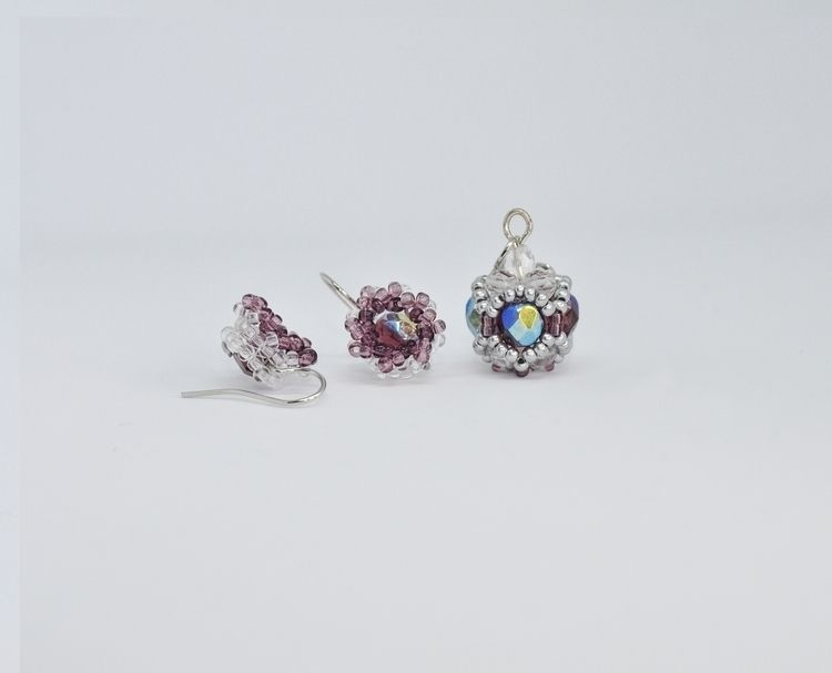 Amethyst Crystal Droplets Set R - haleh_creates | ello