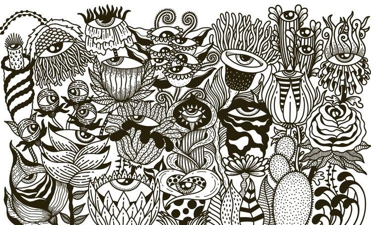 illustration, art, drawing, blackandwhite - alicecquaglia | ello