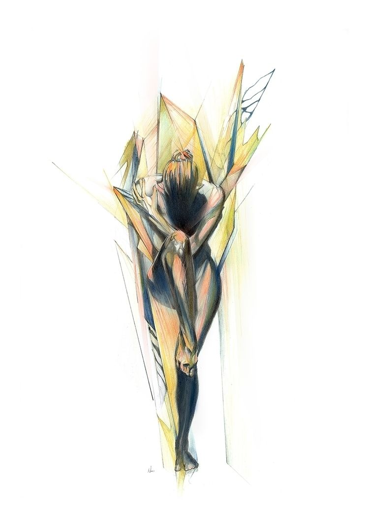 dancer_process color pencils gr - alexismarcou | ello