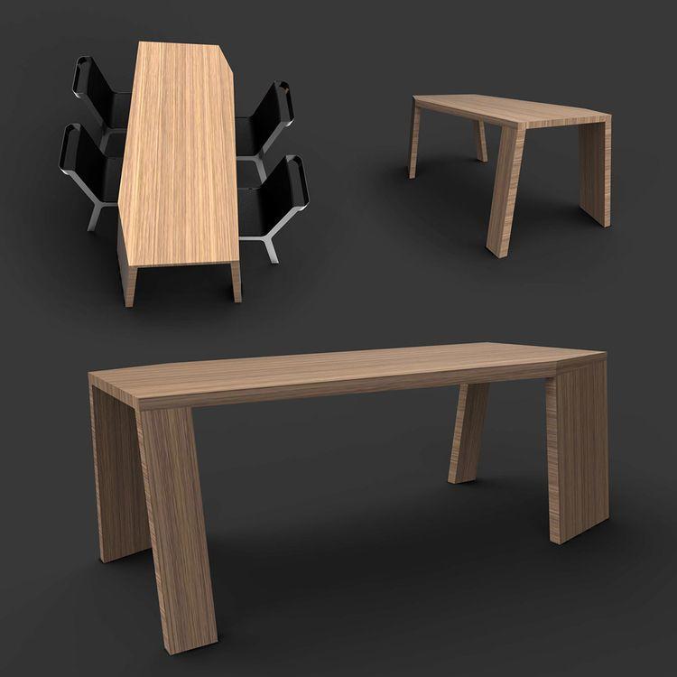 Modulus Oak Table. experiment m - jamesowendesign | ello
