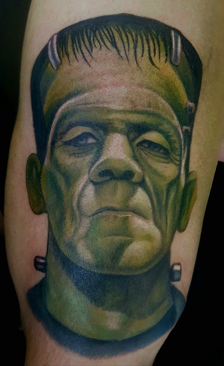 Frankenstein tattoo portrait - scottieford | ello