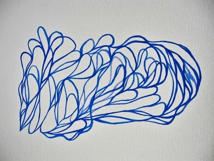Paths Dessin à bleue sur papier - uleedee | ello