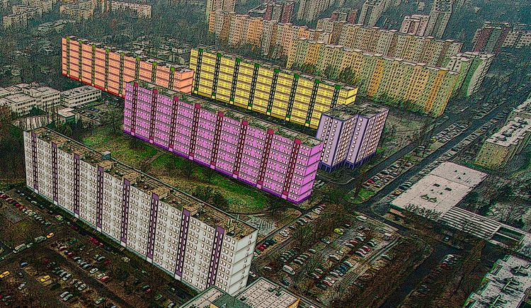 Colorful houses tender coloring - istvanocztos | ello