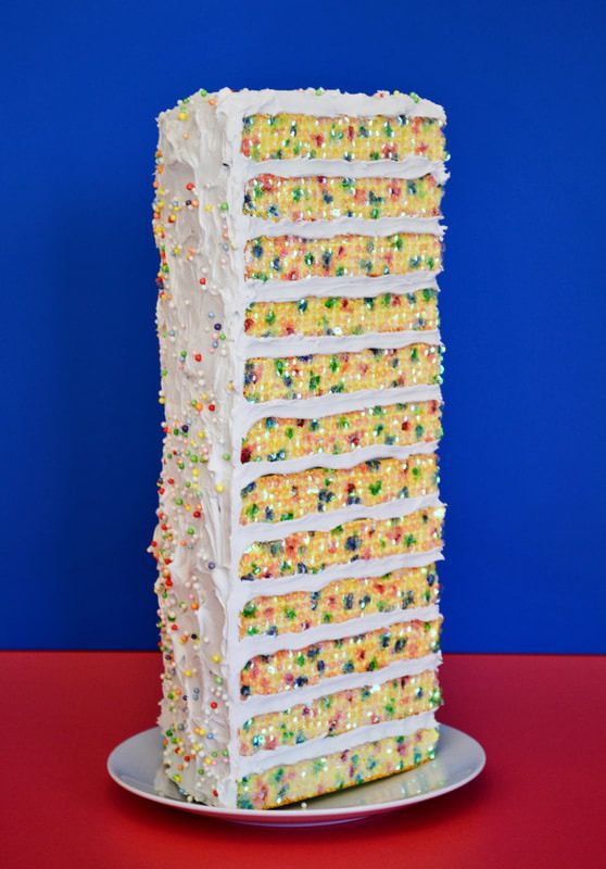 1 slice 12 layer Yellow Funfett - jessicabrackett | ello