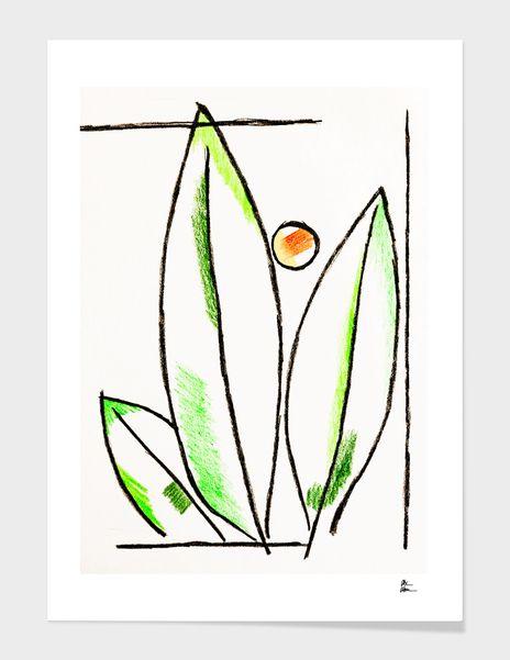 'Triple Leaf Palm' illustration - byalexalm | ello
