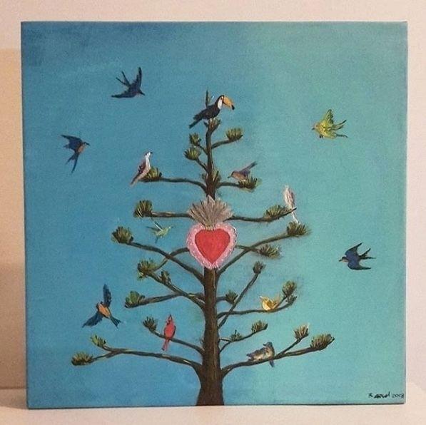 TREE LIFE. acrylic canvas. 40x4 - quimichi | ello