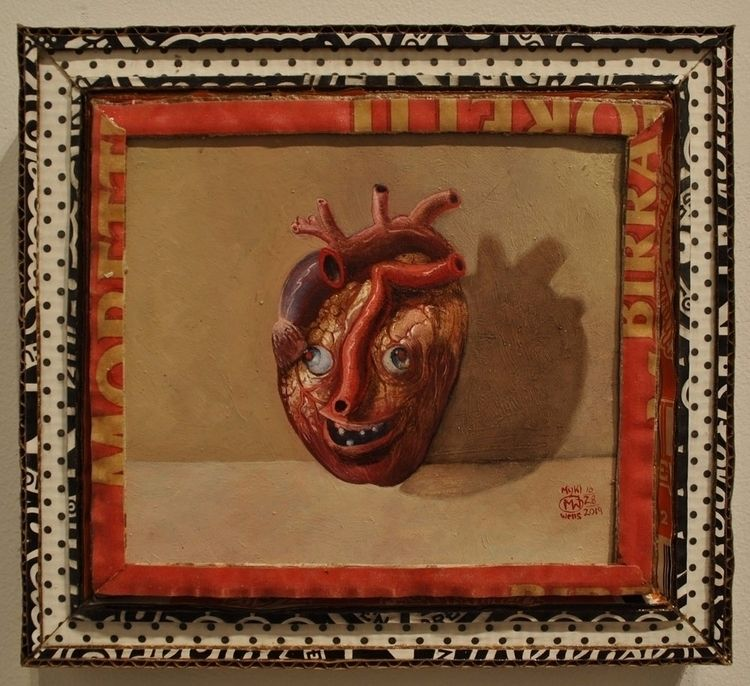 Idiot Heart, oil panel, cardboa - myklwells | ello