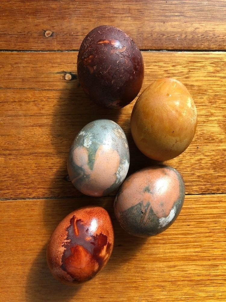 Naturally dyed eggs turmeric, o - blythetoll   ello