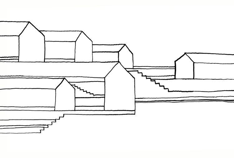Stairs Houses - 02 drawings bla - istvanocztos | ello