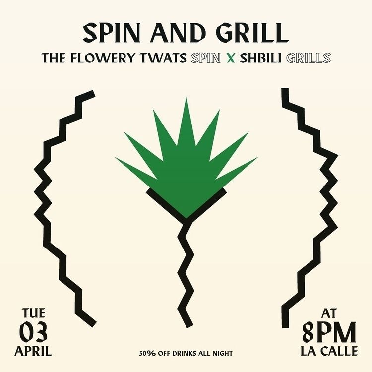 Flowery Twats - party, poster, gigposter - saeed | ello