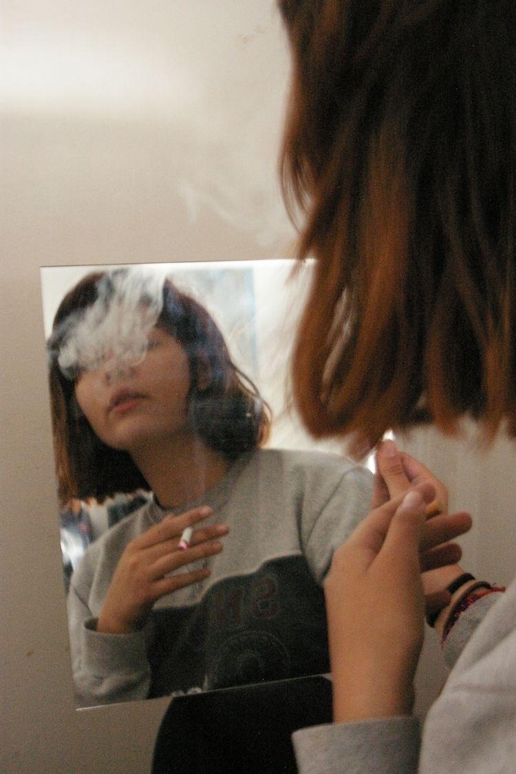 girl, woman, cigarette, blind - solfbonilla | ello