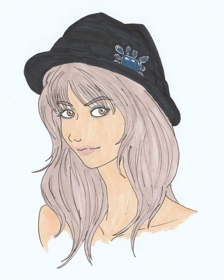 Sketching - girl, woman, female - wildflower86 | ello