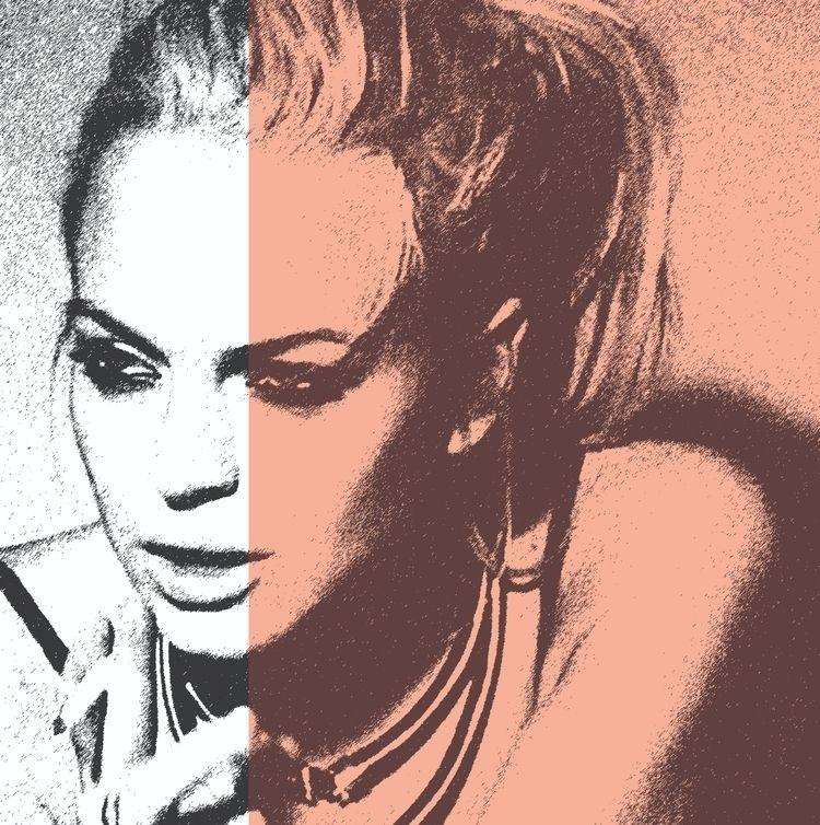 PrettyGritty ~ Lindsay silkscre - michibroussard | ello