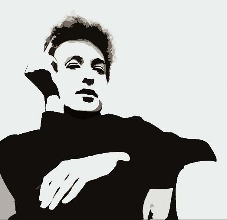 Bob Dylan...acrylic metallic tr - michibroussard | ello