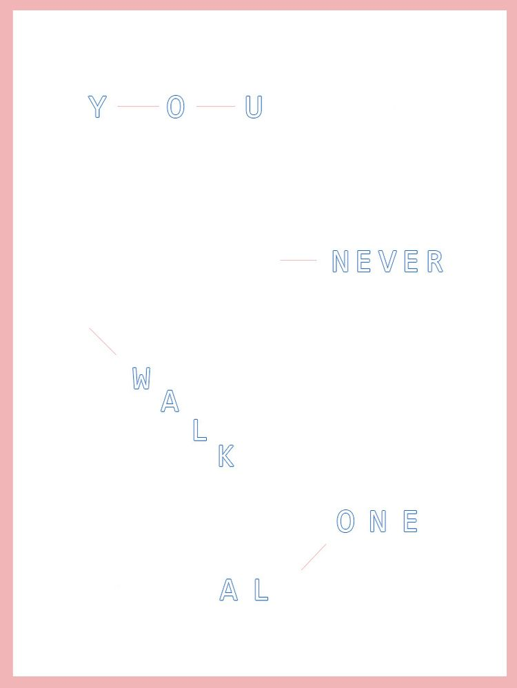 WALK TYPOGRAPHY POSTER (based s - byjea | ello
