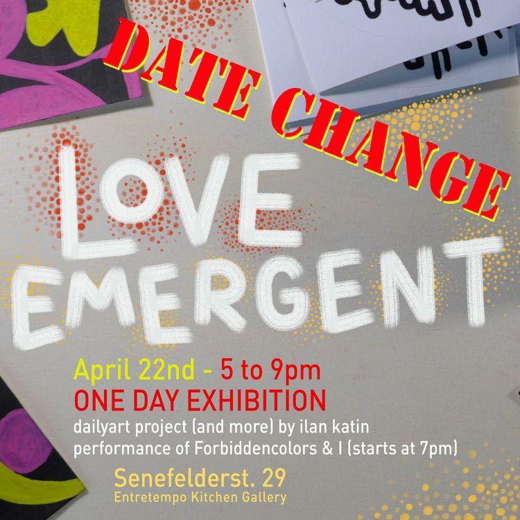 UPDATE!!! DATE CHANGED APRIL 22 - ilan_katin   ello