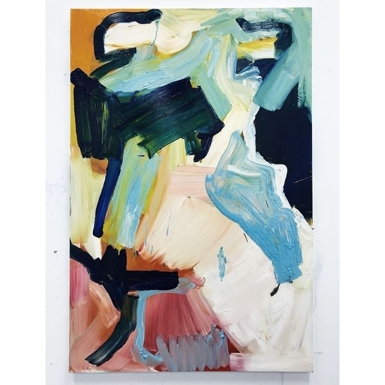 Playing palette. Untitled, oil  - adriancharlessmith | ello
