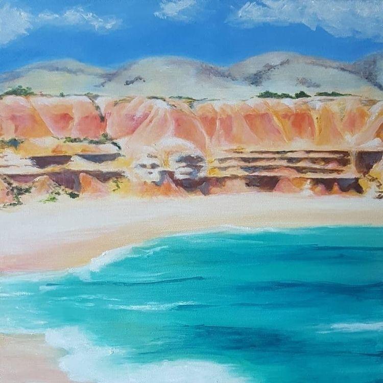Maslin Beach - painting, acrylic - kat-art | ello