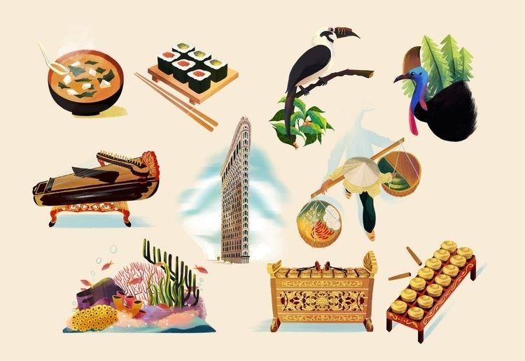 Selected spot illustrations Mab - gicatam | ello