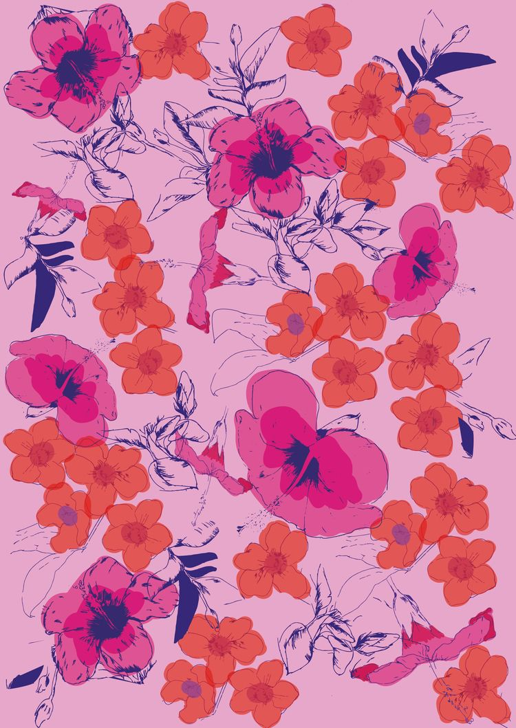 Flower Illustration Pattern Des - ritaribeiro | ello