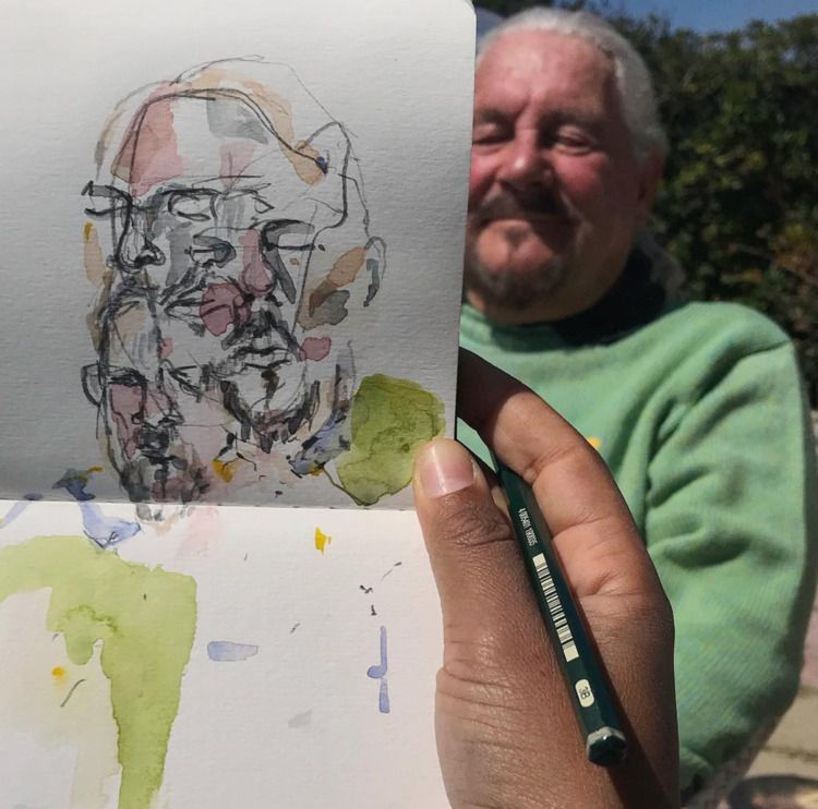 Papa  - watercolour, watercolor - crystalfischetti   ello