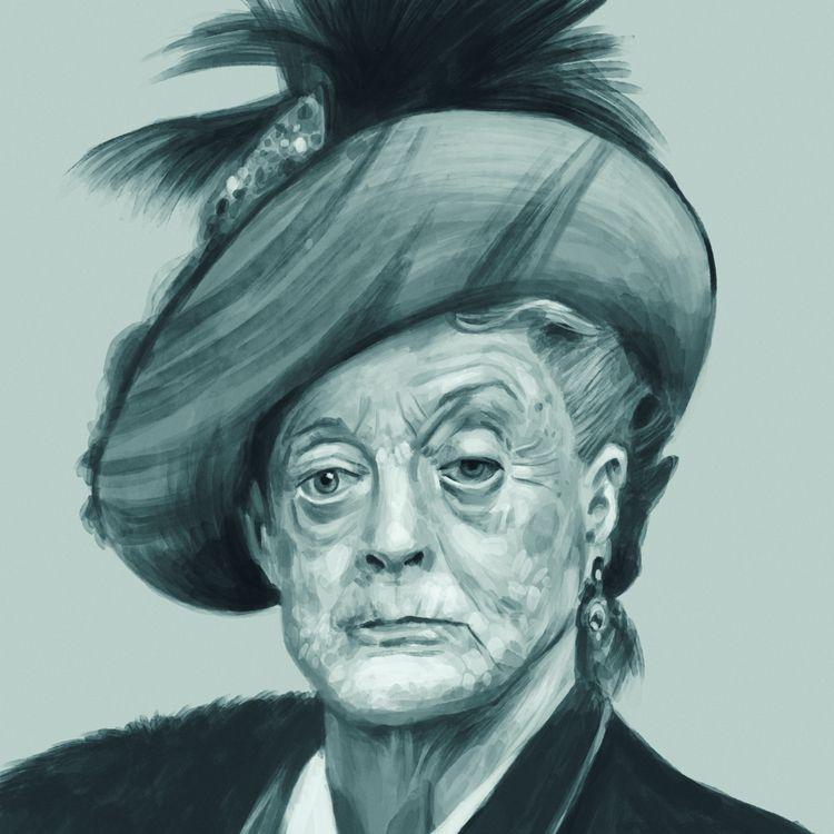 Violet Crawley - downtonabbey, portrait - mrbraintree | ello