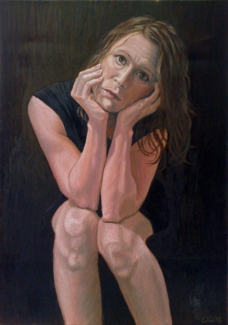 ? painting. Selfportrait, oil c - enavarsavikova | ello