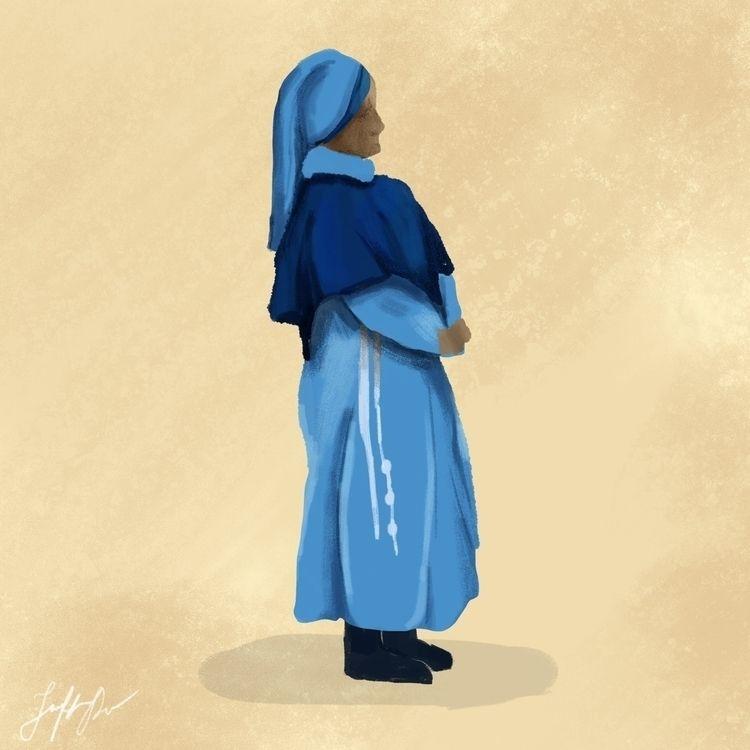 Nun San Juan - illustration, 100dayproject - jenifferrivera | ello