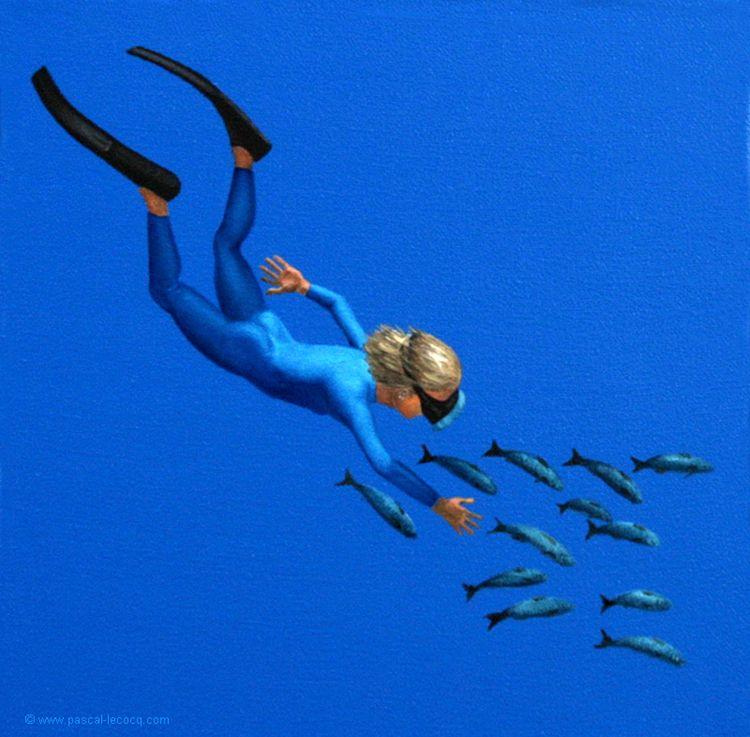 CALLIGRAMME DE GRENOUILLE 36 -  - bluepainter | ello