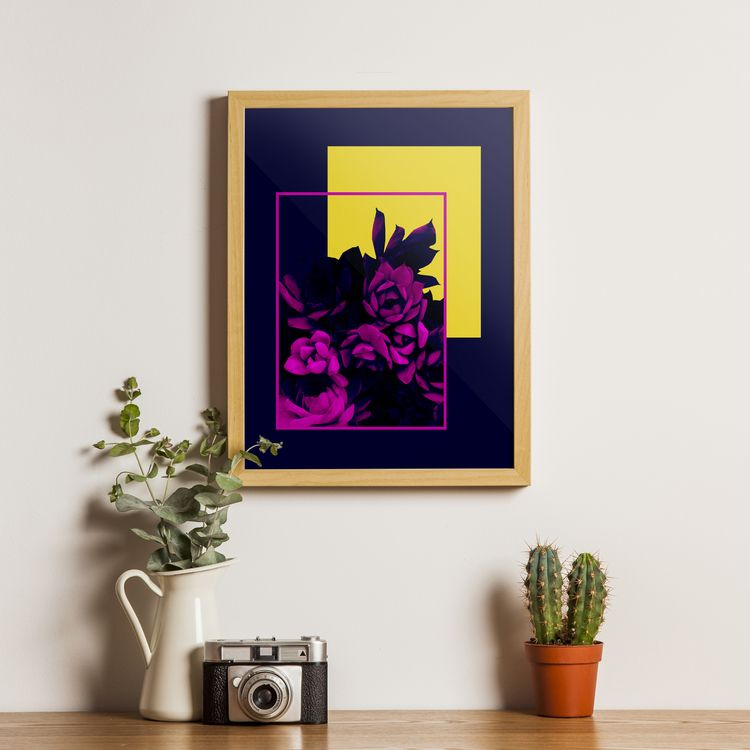 Neon Succulents Abstract compos - designdn | ello