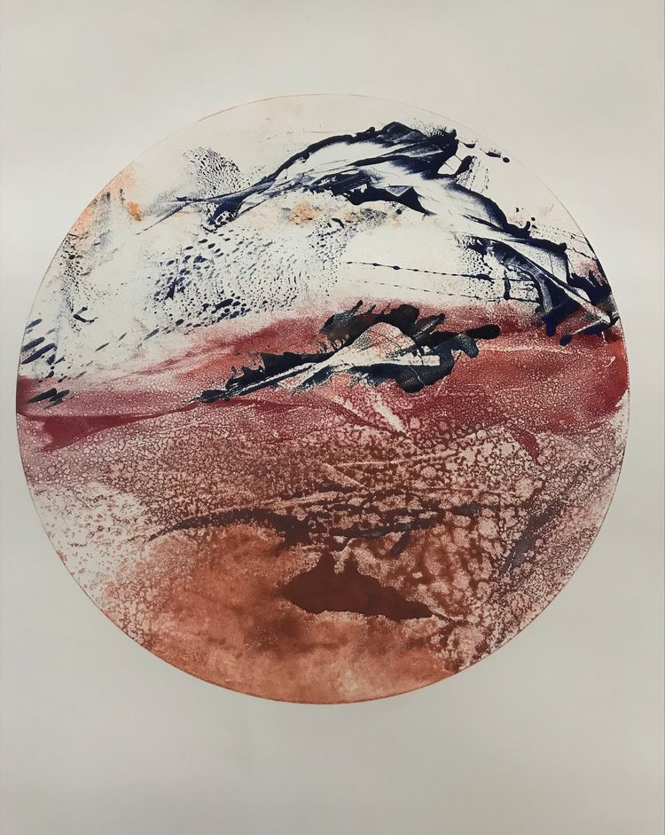 """1 """" Landscape Series Ink wiped  - awingding   ello"""