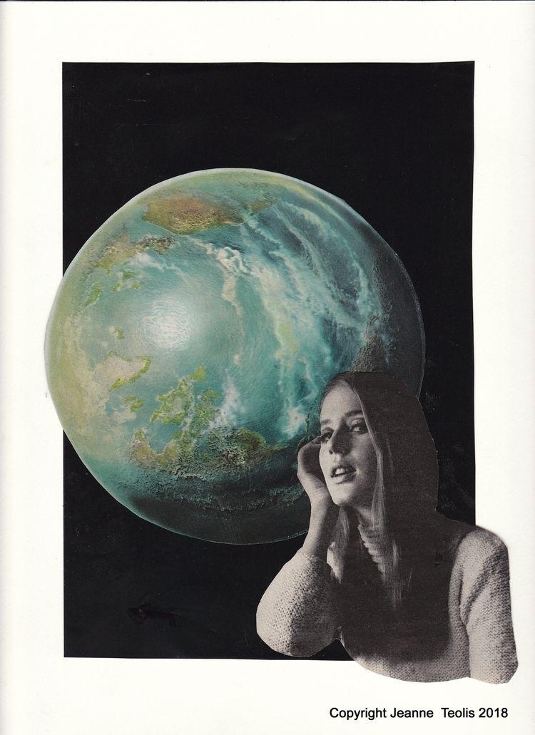Astro Girl Collage Jeanne Teoli - jeanneteolis   ello
