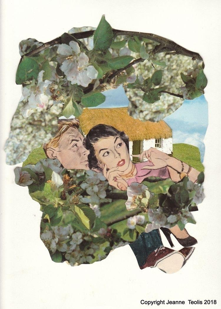 Hiding Apple Tree Collage Jeann - jeanneteolis | ello