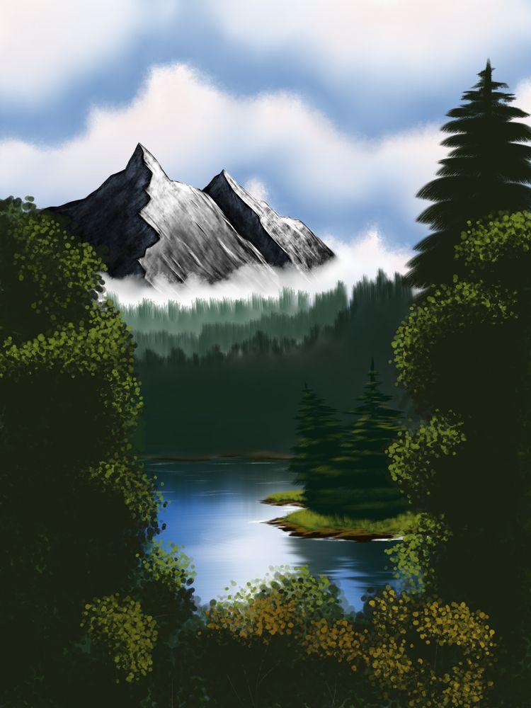 Mystic Mountain. created versio - thejian | ello