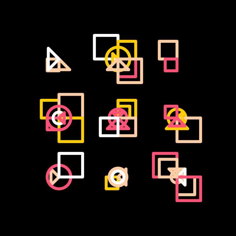 Geometric Shapes / 180408 - processing - sasj | ello