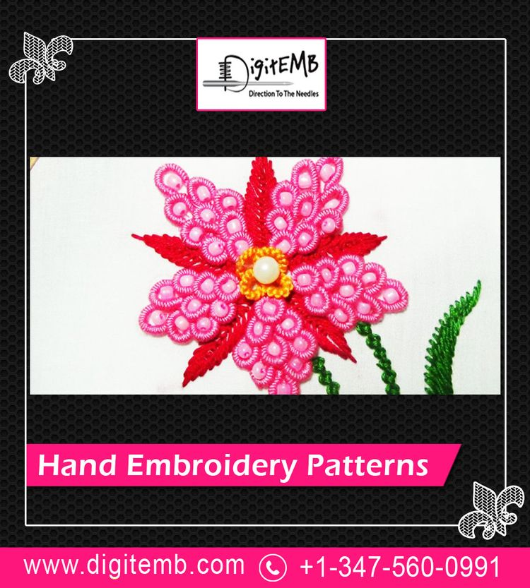 Embroidery art decorate fabrics - handembroiderypatterns | ello
