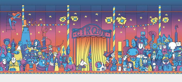 Cirque - illustration, childrensbook - danielspacek | ello