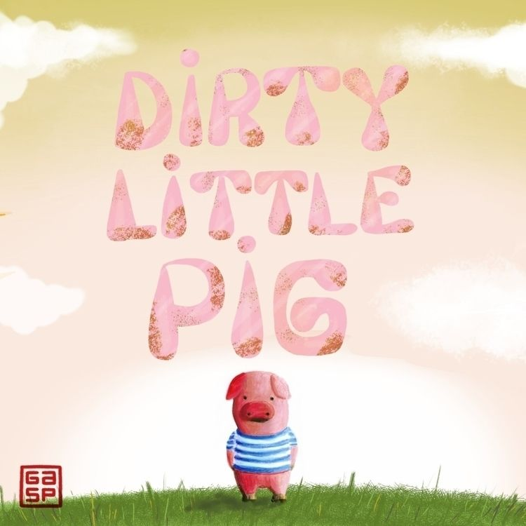 Dirty Pig. Crayons iPad - juanjogasp | ello
