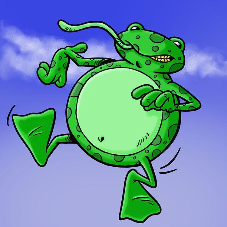Frog Ballon Animaloon Collectiv - dave_windett | ello