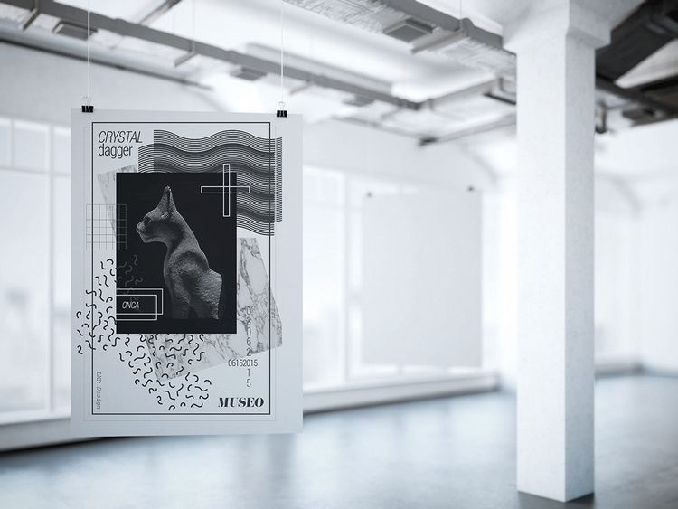 poster design CRYSTAL DAGGER Co - lxrdesign | ello
