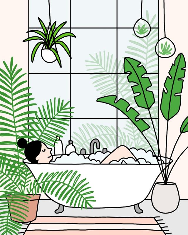Dream bathroom Day 10  - 30daysofplants - ashleighgreen   ello