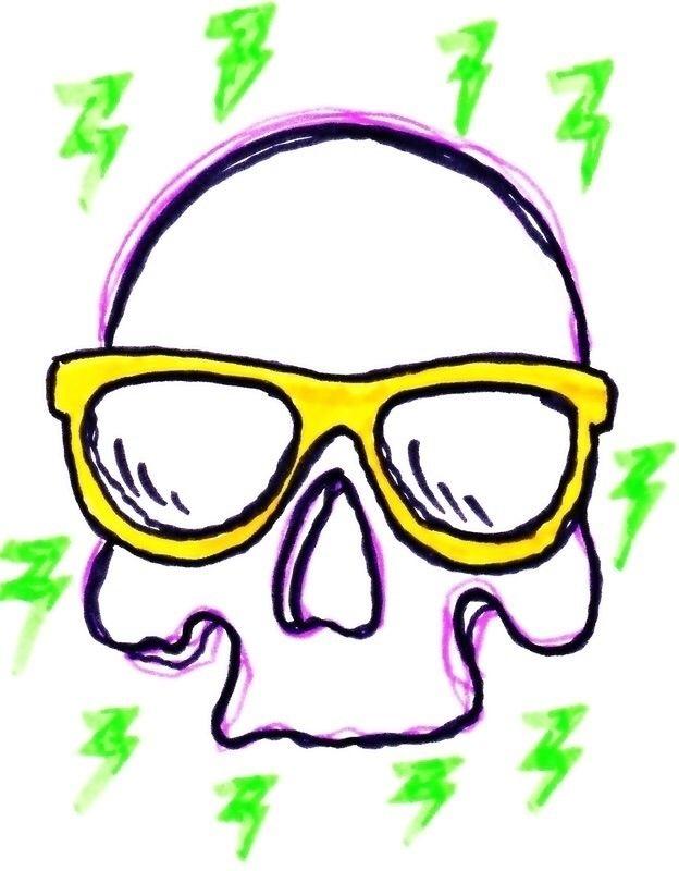 Skull, popart, Print - lizkellyzook | ello